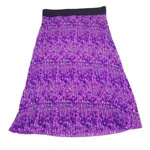 #1156 Lularoe Pleated Skirt Jill Purple Medium
